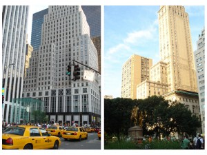 The Bergdorf Goodman store in Midtown & a view from The Plaza Hotel